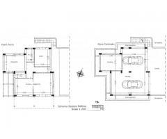 Villa a piano terra con 8000 mq di terreno da edificare